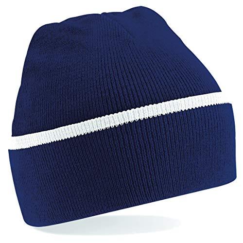 Beechfield B471 Teamwear Bonnet Mixte, Bleu Marine/Blanc, Taille Unique