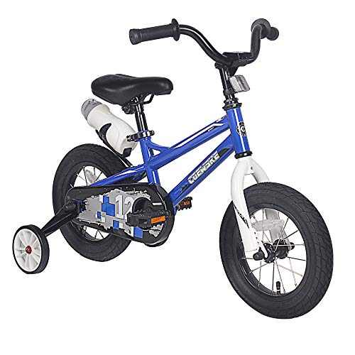 Kids Bike 12 14 16 Inch Children Bike Kids Bicycle with Training Wheels and Water Bottle for Boys Girls