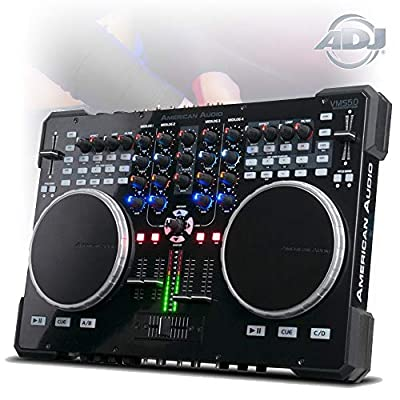 adj American DJ VMS5 Midi Controller 6 Channel Stand Alone Mixer with Virtual DJ
