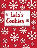 LaLa's Cookies Blank Recipe Book Red Christmas Edition