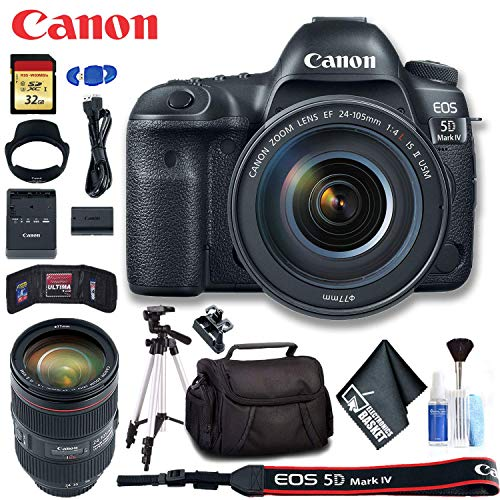 Check Out This Canon 1483C010 EOS 5D Mark IV DSLR Camera with 24-105mm f/4L II Lens (International M...
