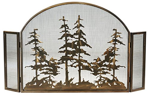 Fantastic Prices! Meyda Tiffany 119082 Rustic Fireplace Screen from Tall Pines Collection Finish, 50...