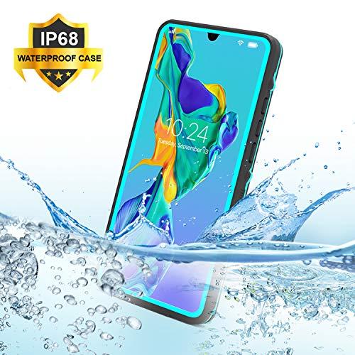 "SenMore P30 Pro Funda Impermeable,IP68 Waterproof Outdoor Delgado Cover a Prueba de choques Anti-rasguños Full Body Protector Case Impermeable Funda para Huawei P30 Pro (6.47"", Azul)"