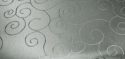 Unbekannt Tovaglia ovale 160 x 220 cm, struttura damascata Circle non necessita di stiratura, antimacchia #1316 (argento)