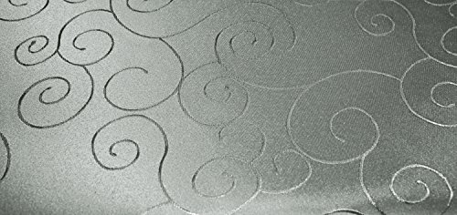 Onbekend tafelkleed rond ca. 160 cm Ø structuur damast Circle strijkvrij vlekbestendig #1095