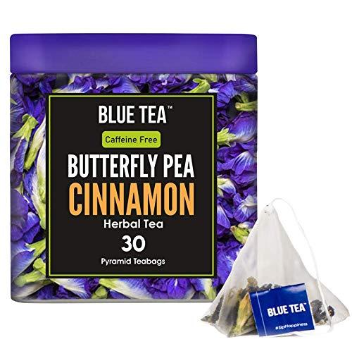 Blue Tea- Schmetterlingserbsenblumenzimt - 30 Pyramidenteebeutel (60 Tassen) | Premium Blechpackung |