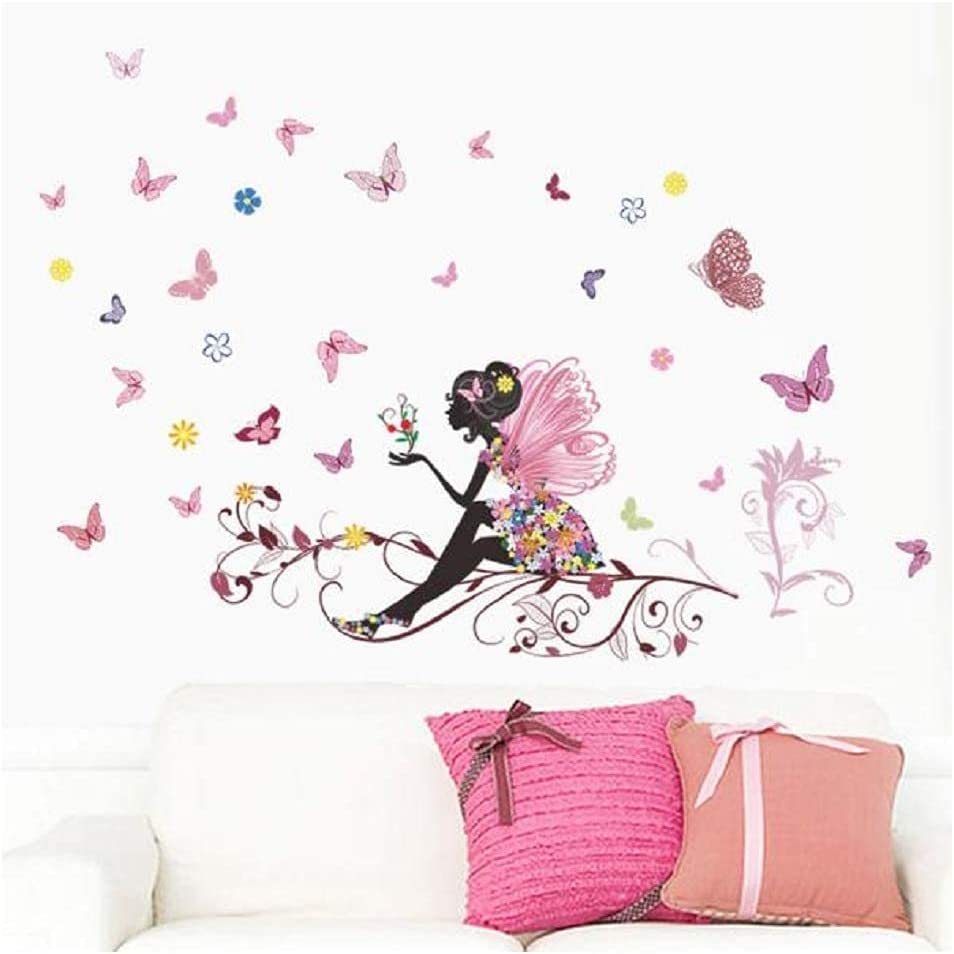 QRDYL Excellence NEW Sticker Butterfly Flower Wall Boys for Girls Stickers Kids
