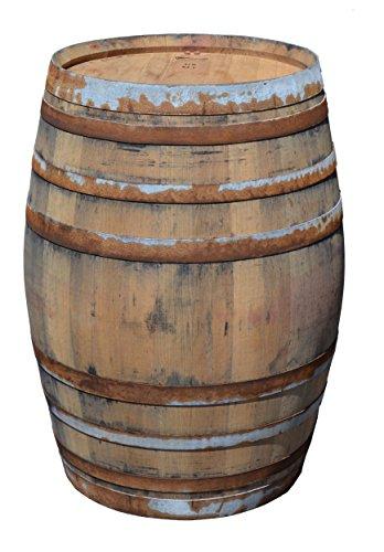 Temesso Stehtisch Tisch Gartentisch aus gebrauchtem Weinfass, Fass, Barrique Tisch aus Eiche Holz rustikal 225 Liter (rustikal Natur)