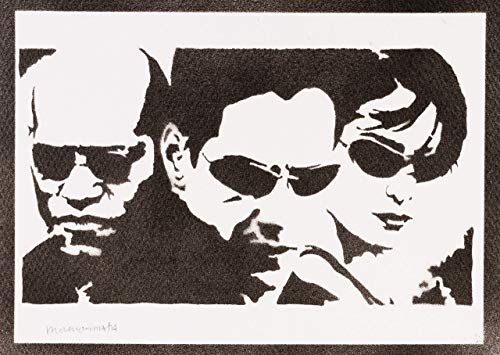 The Matrix Poster Neo Trinity und Mopheus Plakat Handmade Graffiti Street Art - Artwork