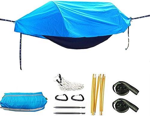 XRFF Hamac de Tente de Camping, lit de Couchage Suspendu de Camping   Moustiquaire   Couverture étanche   Ultralight Portable   Parachute,bleu