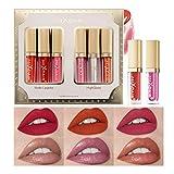 OLesley 6 piezas Set de pintalabios Kit de brillos de labios líquidos Terciopelo Mate Lip Glaze, lápiz labial duradero Glaseado de labios Impermeable Set de maquillaje de labios antiadherente (B)