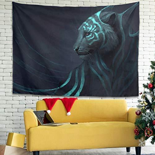 Tapiz de pared multifuncional con diseño de lobo, color blanco, 100 x 150 cm