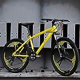 Bicicleta de Montaña, Barranco de la bici MTB de acero al carbono que absorben los golpes rueda de la Unidad de bicicletas de montaña de doble freno de disco delantero Suspensión 21 24 27 velocidades