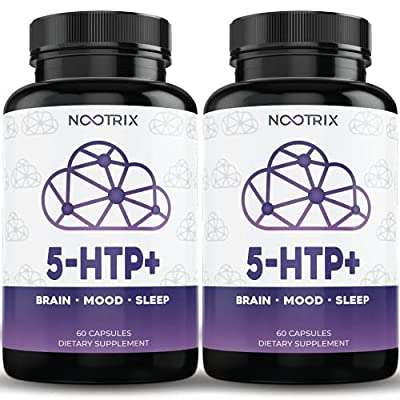 (2-Pack) 5-HTP+ by Nootrix - 200mg Plus Calcium - 99% Purity - Premium Serotonin Booster - Supports Stress Response & Healthy Sleep Cycles - Non-GMO, Gluten Free