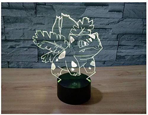 Lámpara de Noche 3D de 16 Colores con Control Remoto Anime con Buena calidad Panel Acrílico Base ABS