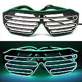 ifancy LED Shutter Shade Brille - Leuchtbrille Bicolor Sonnenbrille Partybrille - Konzert Disco...