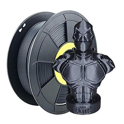 ZIRO Carbon Fiber PLA Filament 1.75mm,3D Printer Filament Carbon Fiber PLA 1.75mm 0.8KG Spool - Black