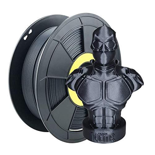 Filamento PLA de fibra de carbono ZIRO 1,75 mm, filamento de impresora 3D PLA de fibra de carbono 1,75 mm bobina de 0,8kg - Negro