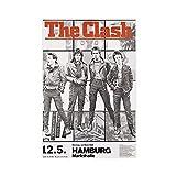 80er Jahre Vintage Punk Rock Musik Poster The Clash Hamburg