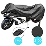 KAKIT Motorcycle Cover, Waterproof All Weather Outdoor Protection Motorcycle Covers, 210D Oxford Durable and Tear Proof, Fits up to 90.2' Motors, for Harley, Honda, Yamaha, Suzuki and More