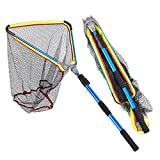 sunyu Redes de Pesca 200CM Plegable de Aleación de Aluminio con Mango Largo Telescópico para Atrapar Peces Accesorios Pesca