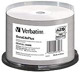 Verbatim CD-R 80Min / 700Mb / 52X Tarrina (50 Discos) Térmica para Imprimir La Superficie Blanca Tamaño Completo