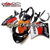 Sportfairings ホンダに適していますCBR1000XX 1997 98 99 00 01 02 03 04 05 06 2007 cbr1000xxのSportbikeフェアリングキット新しいカウリングCBRボディワークキット-レプソルオレンジホワイトとブラックの下部にはタンクカバーが含まれています