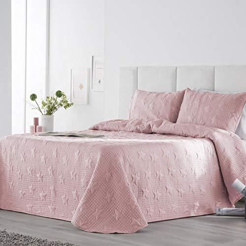 Fundeco - Colcha bouti Ariel - Color Rosa - Cama 150 cm