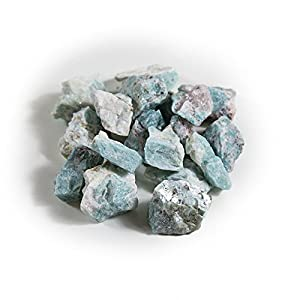1 lb Bulk Crystal Rough Stones - Natural Raw Stones Mix & Fountain Rocks for Tumbling, Cabbing, Polishing, Wire Wrapping, Wicca & Reiki Crystal Healing