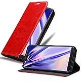 Cadorabo Hülle für WIKO View 2 GO in Apfel ROT - Handyhülle mit Magnetverschluss, Standfunktion & Kartenfach - Hülle Cover Schutzhülle Etui Tasche Book Klapp Style