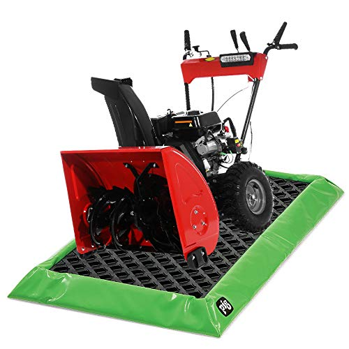 """Snow Blower Containment Mat with Lip for Snow, Ice, Slush and Water 