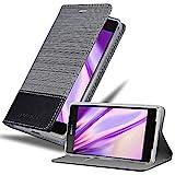 Cadorabo Coque pour Sony Xperia Z2 en Gris Noir – Housse Protection avec Fermoire Magnétique,...