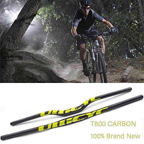 Pn&cc Los manillares de Bicicletas, Ciclismo 31,8 mm Mango de Fibra de Carbono 3K Bicicleta de Carretera Plegable Manillar de la Bicicleta de montaña MTB Manillares Rise,Riser,700mm