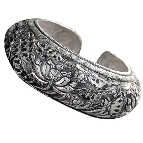Fine 999/99 Cuff Bracelet High Purity Sterling Silver Jewelry 100% Handcrafted #130