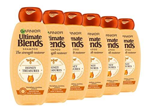Garnier ultimate blends miel Fortalecimiento Shampoo, 360ml, pack de 6