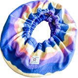 Critter Cuddler Small Animal Carrier and Bonding Pouch Anti-Anxiety Interactive Play Exercise Ring Therapeutic for Both Pet & Handler Small Dog Cat Soft-Sided Carrier Sling (Tie Dye)
