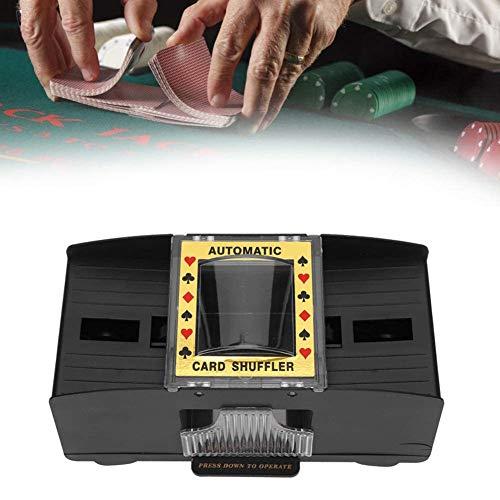 DSYYF Automatischer Kartenmischer für 2-Deck-Poker Elektrisches automatisches arbeitssparendes Kartenmischwerkzeug für Home Entertainment
