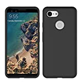 Google Pixel 3 Case, Liquid Silicone Gel Rubber Matte Case[Comfortable Grip] Drop Shockproof Full Body Protection Phone Case with Soft Cushion[Screen & Camera Protection] for Pixel 3 5.5 inch - Black