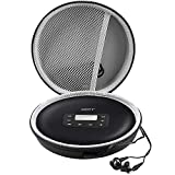 Portable CD Players Case Compatible for HOTT Portable CD 511/611/711/611T /Gueray/Soulcker/NAVISKAUTO Personal Compact Disc Player,Travel Carrying Stoarge Holder for CDs, Earphone and USB Cable- Black