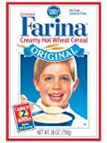 Farina Creamy Hot Wheat Cereal, 28.0 Ounce Boxes (Pack of 6)