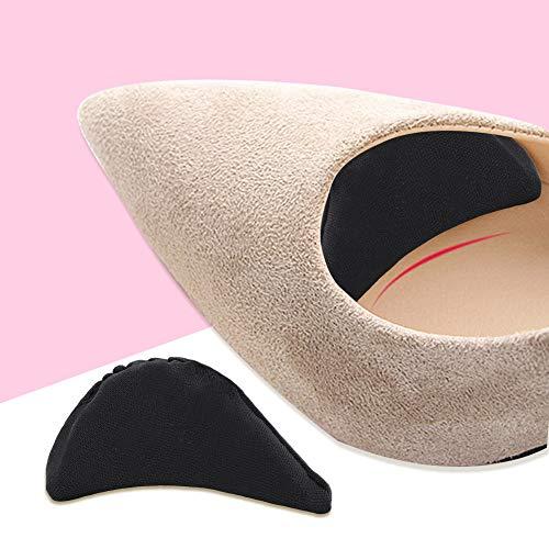 Inserto de zapatos de esponja suave Evita el dolor en los pies Reduce la fricción para zapatos puntiagudos Negro