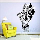 Harley Quinn bate de béisbol pistola arma Hollywood película villano Joker pegatina de pared vinilo arte calcomanía niños niño dormitorio juego sala de estar decoración del hogar Mural