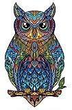 SAKHRI Paris® Puzzle de madera para adultos Animales de París | Sam el búho de Montmartre | Rompecabezas Juegos familiares Idea original de regalo para niños Pasatiempos educativos