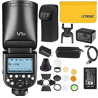 Godox V1-N TTL - Flash para cámara fotográfica (Compatible con Godox AK-R1) (B07QM6KPD9) | Amazon price tracker / tracking, Amazon price history charts, Amazon price watches, Amazon price drop alerts