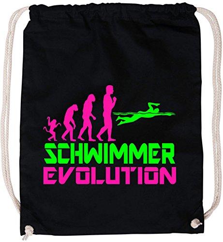 EZYshirt® Schwimmer Evolution Baumwoll Stoffbeutel