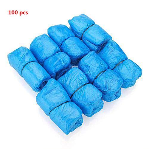 Schoenovertrek YX 100-1000 PCS PE overschoen machine overschoen blauw wegwerp handig en comfortabel, 100st schoenen bedekking, One Size
