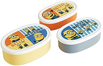Minion Design Nesting Microwavable Food Storage Lunch Boxes Set of 3pcs