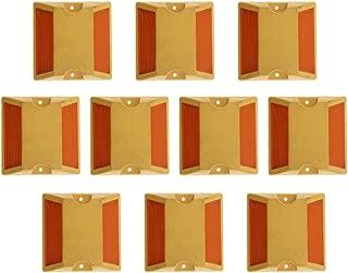 B Blesiya 10Pcs New Two-Way Yellow Raised Pavement Markers Reflectors