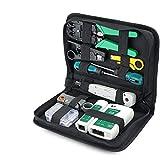 Herramientas de reparación de red Kits de reparación de equipo de reparación LAN red con crimpado Stripper Tool Set 9 en 1