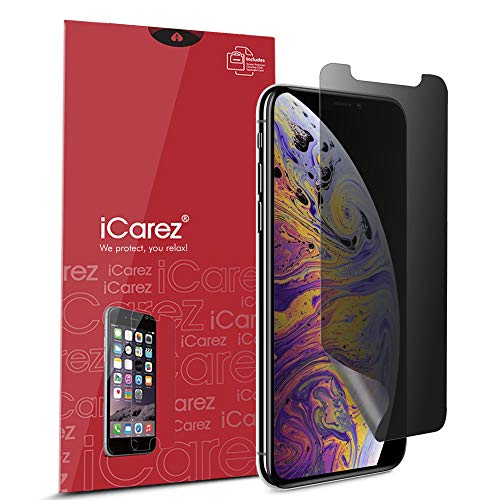 iCarez Privacy Screen Protector for iPhone 11 Pro Max (2019) / iPhone XS Max 6.5-Inch (2018), 1-Pack 4-Way 360 Degree